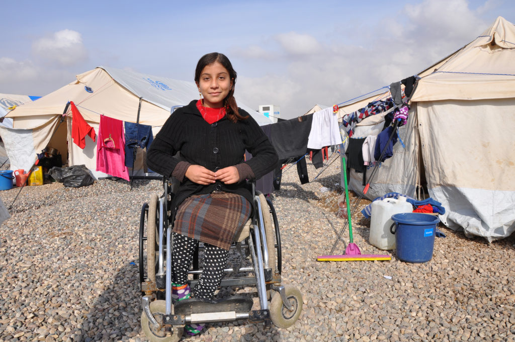 "Rehab and her family escaped ISIS rule. She said once ISIS took over her town just outside Mosul, Iraq, the curriculum at her school changed to all ""bombs and blood."" (Lauren Bohn/GroundTruth)"