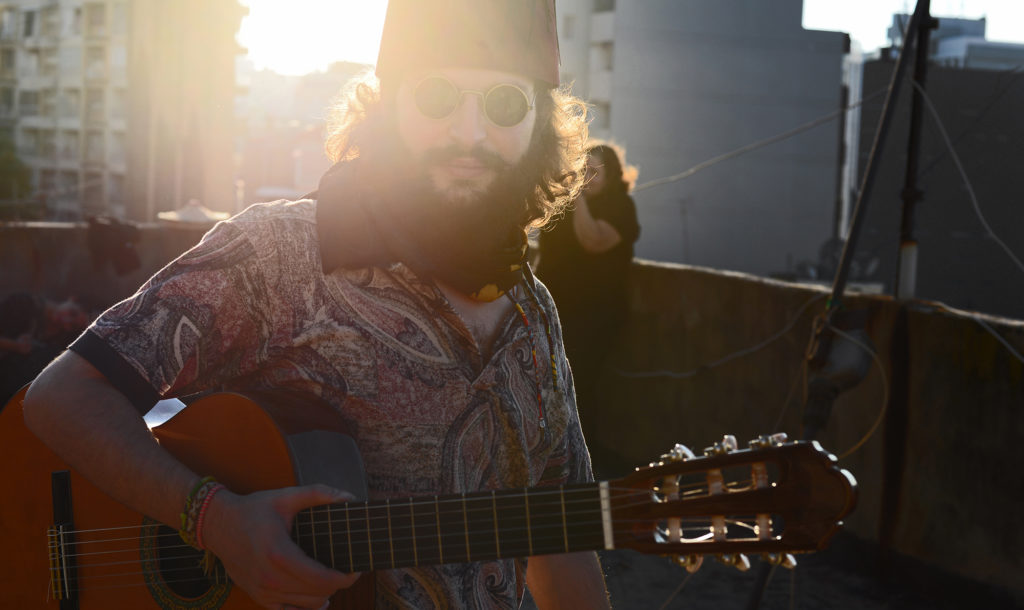 Ahmad Naffory pictured on a Beirut rooftop. (Photo courtesy Mohamad Khayata)