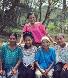 Candelaria and her family. Her great-granddaughters received bicycles so that they won't have to walk three miles to get to school. (Lauren Bohn/GroundTruth)