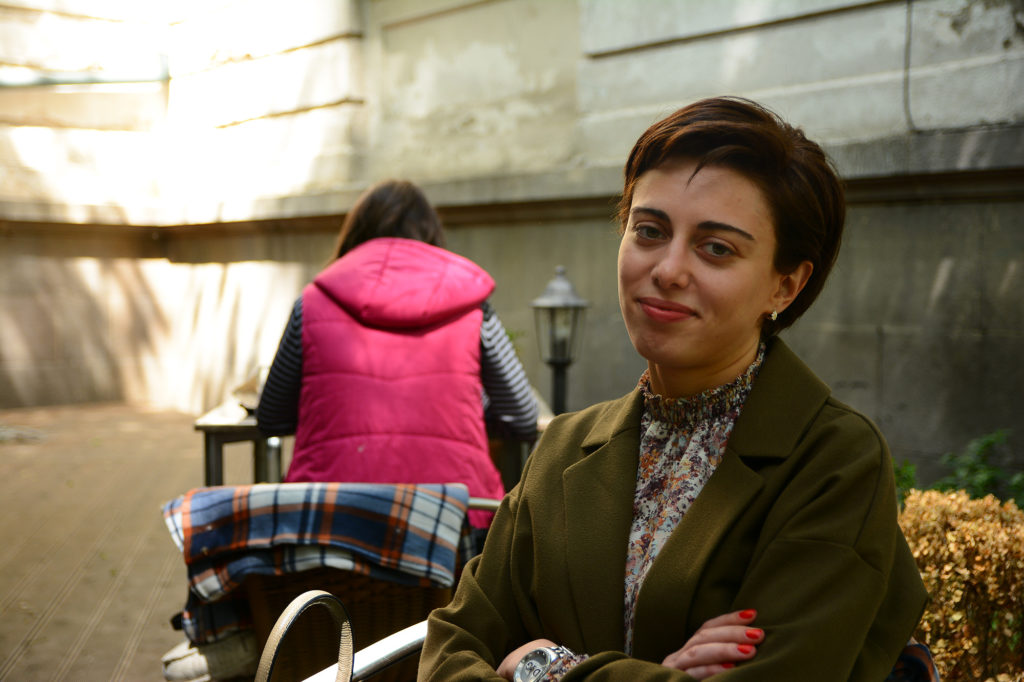 Natia Gamkrelidze studied international relations in Sweden before returning to Tbilisi and founding a pro-EU civic group. (Maryam Saleh/Medill/GroundTruth)