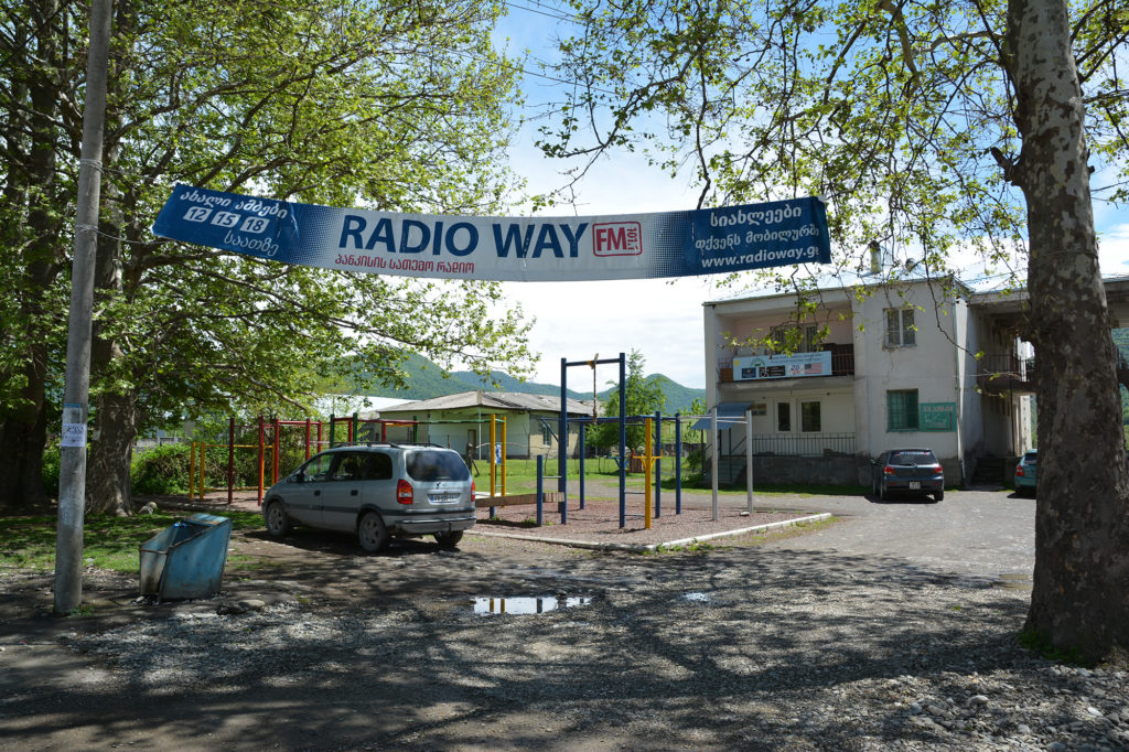 Radio Way is the only community radio station in the Pankisi Gorge. (Maryam Saleh/GroundTruth/Medill)