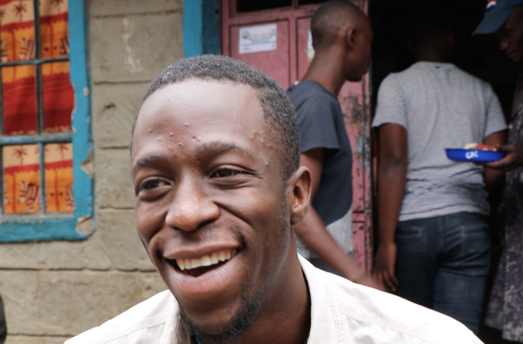 Guiere Lumumba, 24, said he would vote based on issues, and not on the tribal lines that have divided Kenyans and caused violence in past elections. (Neha Wadekar/GT)