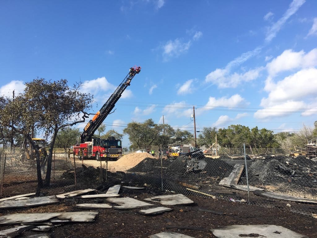 The Lake Travis mosque completely burned on Jan. 7, 2017, shortly before it was ready to open for worship. Investigators don't have enough evidence to establish the cause of the fire. (Cate Malek)