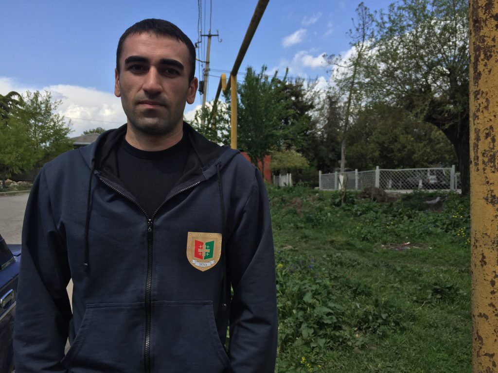 "Joni Barishvili is a lifelong resident of Ditsi who describes living near the Russian-occupied South Ossetia as being ""closer to the place that hurts our heart."" (Maryam Saleh/Medill/GroundTruth)"