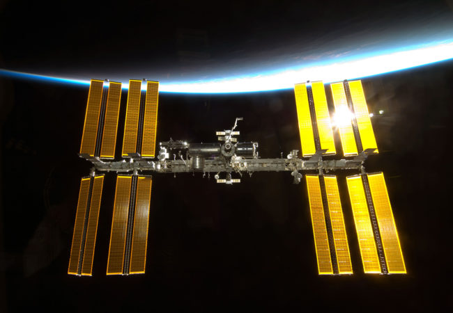 The International Space Station, photographed by the NASA shuttle Endeavor. Even as geopolitical situations get dicey on Earth, astronauts from different countries, even those in disagreement, still work together in space. (NASA)