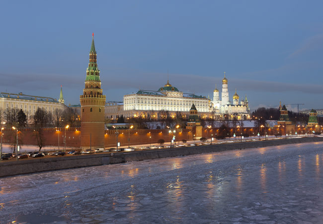 The Kremlin, the seat of the Russian government. Even after the dissolution of the U.S.S.R., former Soviet states still feel the grip of Russia. (Pavel Kazachkov/Flickr Creative Commons)
