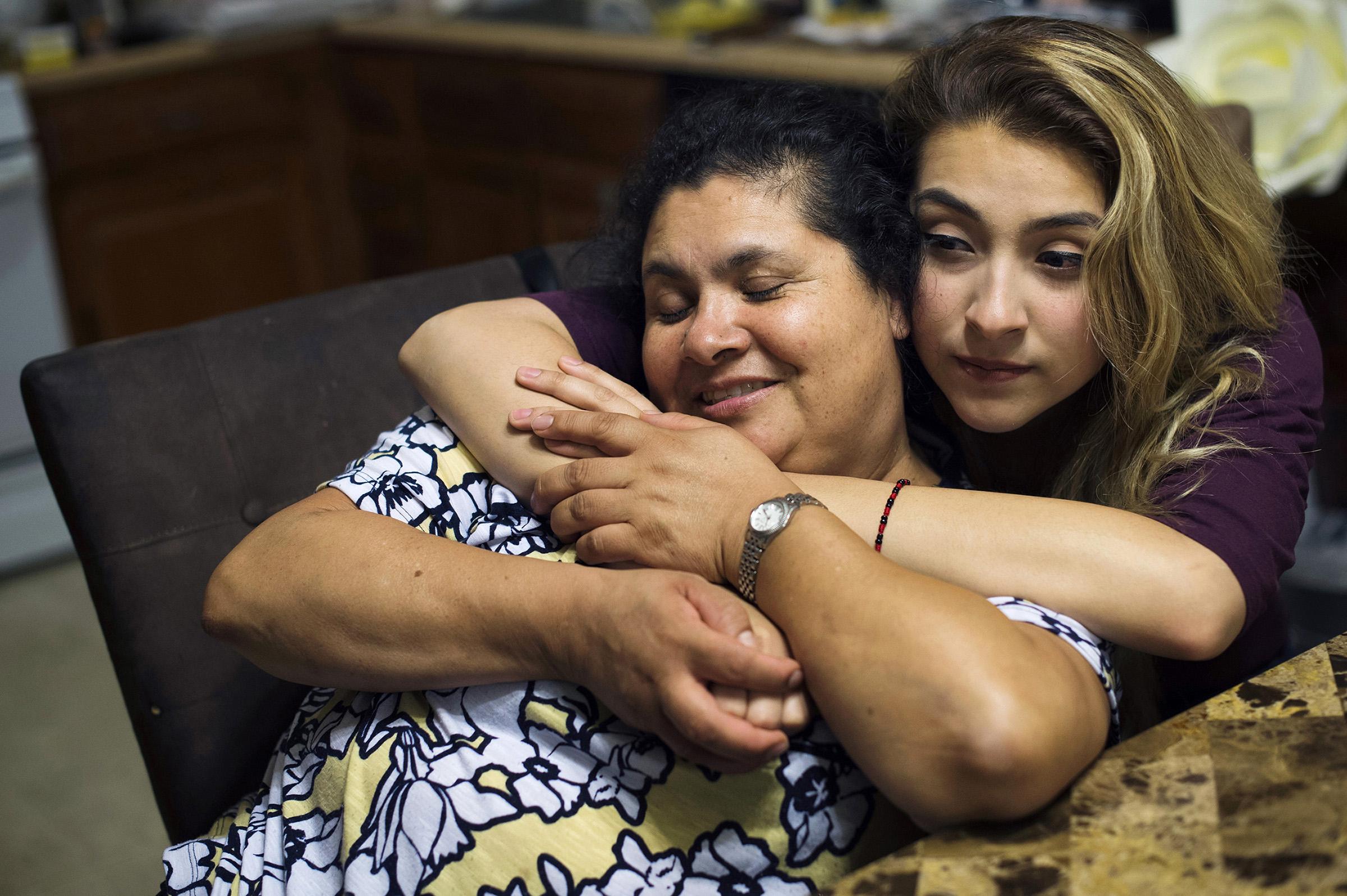 Lourdes Salazar Bautista and her daughter Pamela Quintana-Salazar