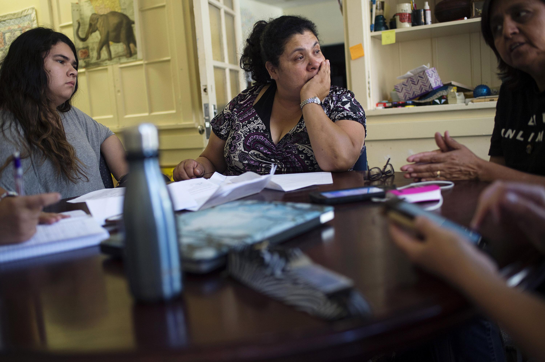 Lourdes Quintana-Salazar, 15, her mother Lourdes Salazar Bautista, and family friend Leonor Kromis, of Ann Arbor,