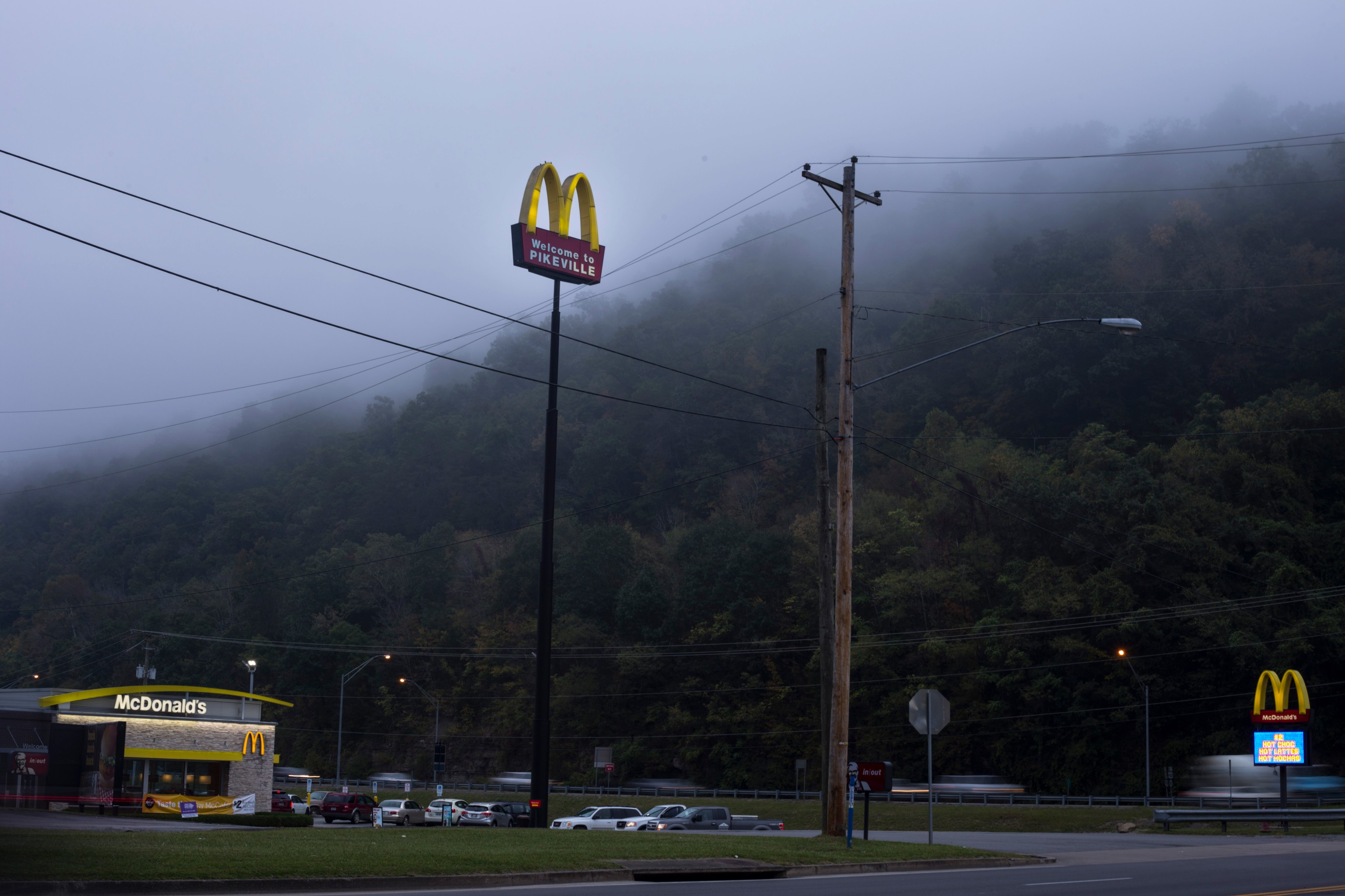 A McDonald's is seen greeting visitors to Pikeville, Ky., on Friday, September 22, 2017. (Photo by Brittany Greeson/GroundTruth)