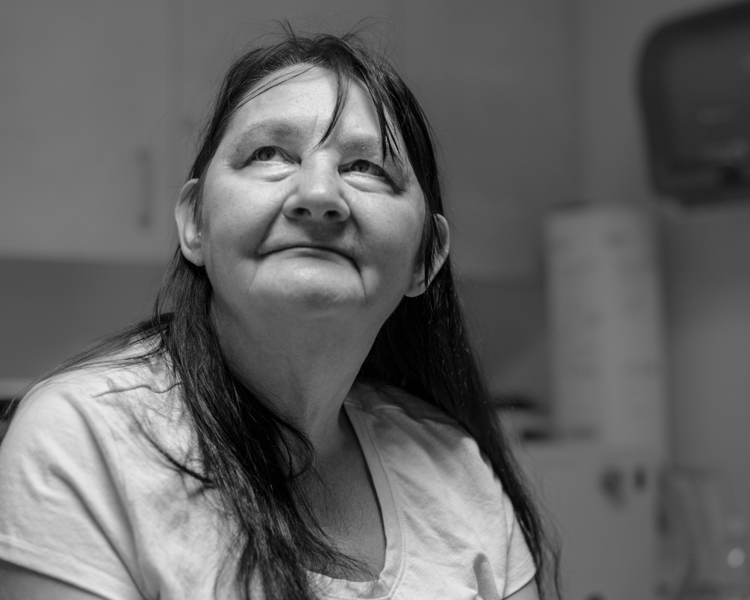 Lois Smith of Whitesburg, Ky., has health insurance for the first time in her life due to the Medicaid expansion. She undergoes treatments at Whitesburg Hospital for complications related to her diabetes, and said she fears that she will lose access to health care in the current political climate. (Photo by Ben Brody)