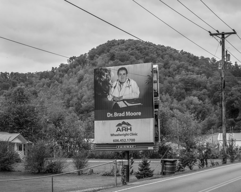 Billboards advertising health care professionals and personal injury lawyers are prevalent in Eastern Kentucky. (Photo by Ben Brody)