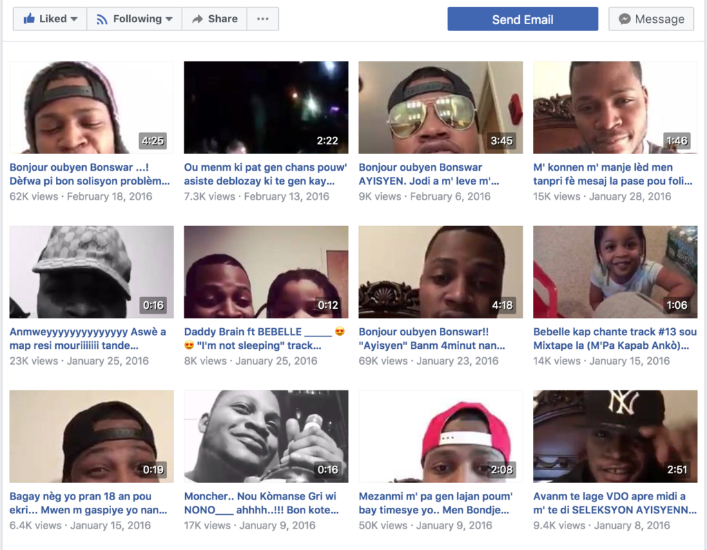 Vladimir Mead first started posting his freestyles on Facebook in 2015. Today he has almost 30,000 followers. (Screenshot)