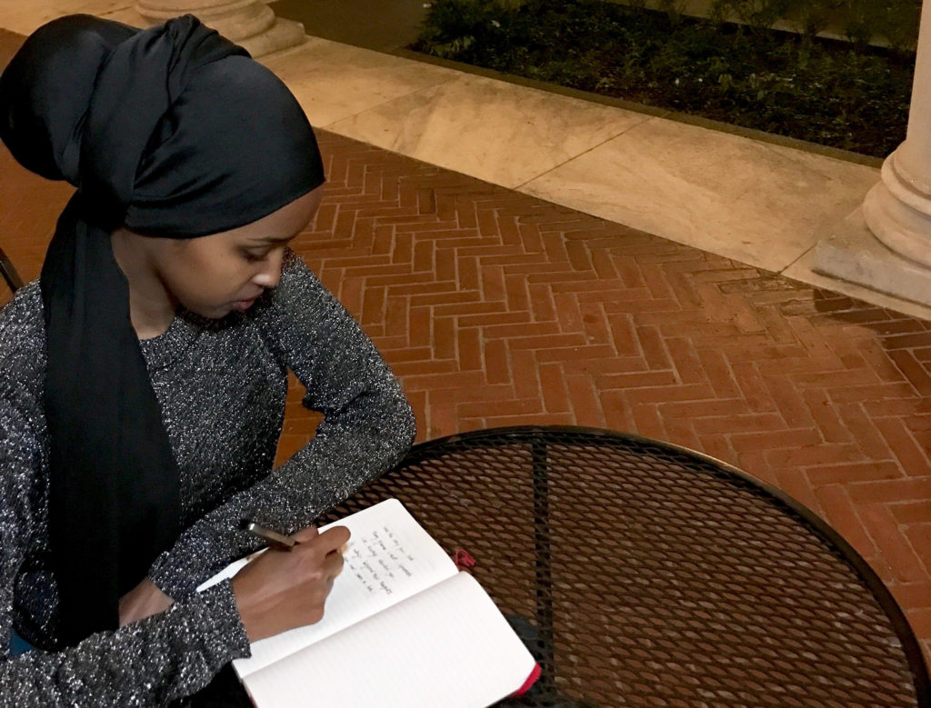Amal Hussein was inspired to write poetry by her grandmother, who she has only known through videos and phone calls. (Photo courtesy of Amal Hussein)