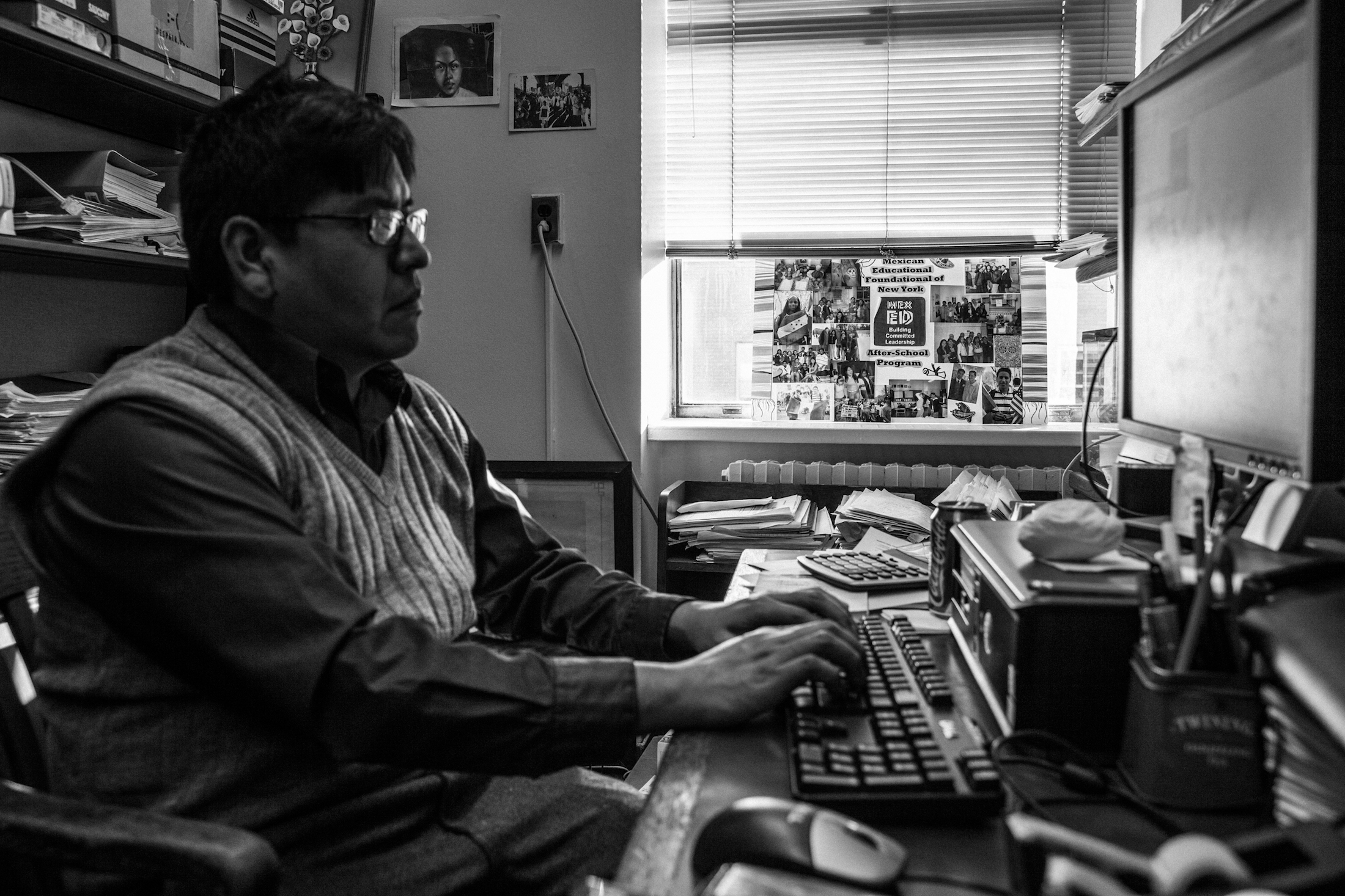 In 2014, Baruch College offered Angelo Cabrera a job as a community and social services specialist. Before he could accept the job, he needed to return to Mexico and declare himself to American immigration and fix his immigration status. (Maite H. Mateo/GroundTruth)