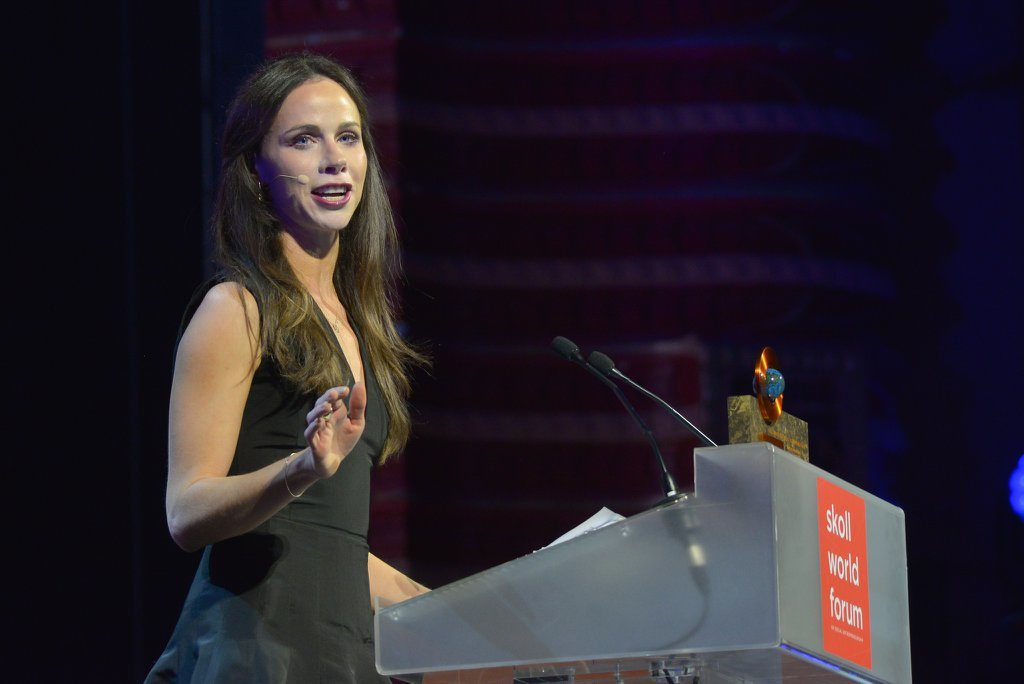 """I was raised to give a damn."" —Barbara Pierce Bush, Skoll Awardee. (Courtesy of Skoll Foundation)"