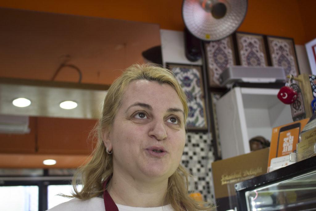 Ebru Uzun moved to Seoul from Turkey 14 years ago, she owns a bakery on Usadan-ro. (Razzan Nahklawi/GroundTruth)
