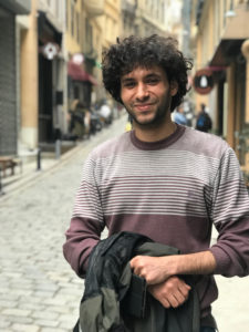 Ahmed in Istanbul in 2017. He says he won't return to Egypt. (Lauren Bohn/GroundTruth)