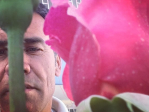 """Five days before he was killed, Shah Marai posted this selfie on Instagram. """"Beautiful rose flowers in our garden,"""" he wrote."""