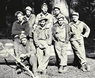 The planting crew at Humboldt Redwoods State Park in California in 1935.