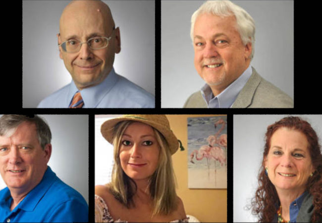 Clockwise from top left: Gerald Fischman, Rob Hiassen, Wendi Winters, Rebecca Smith and John McNamara. (Images courtesy of the Capital Gazette)