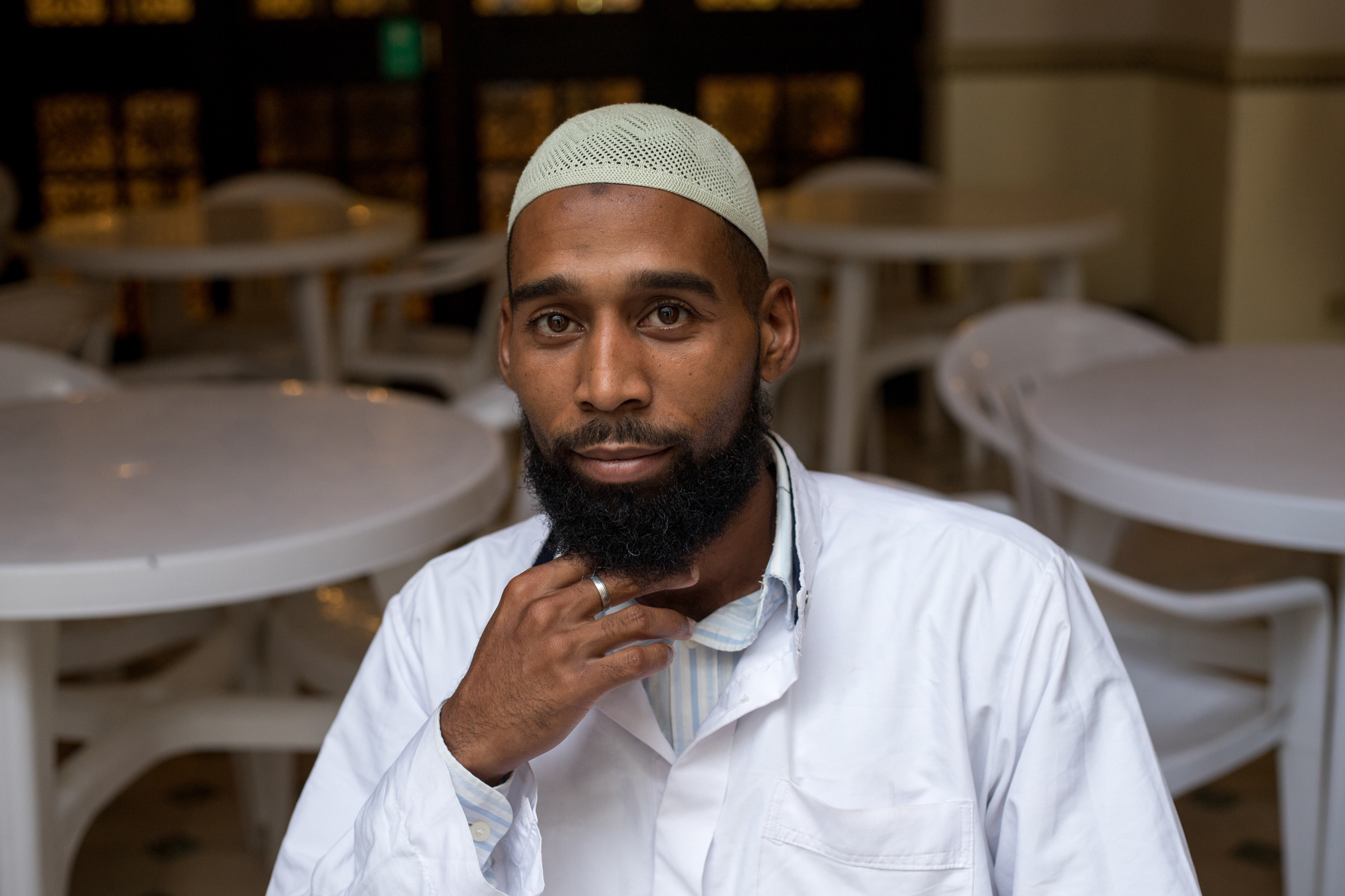 Yusuf Ali, 26, has been a practicing Muslim for two years. While working as a demolitionist, he said he's been confronted by misconceptions about his religion, with one person asking him if he's a terrorist.