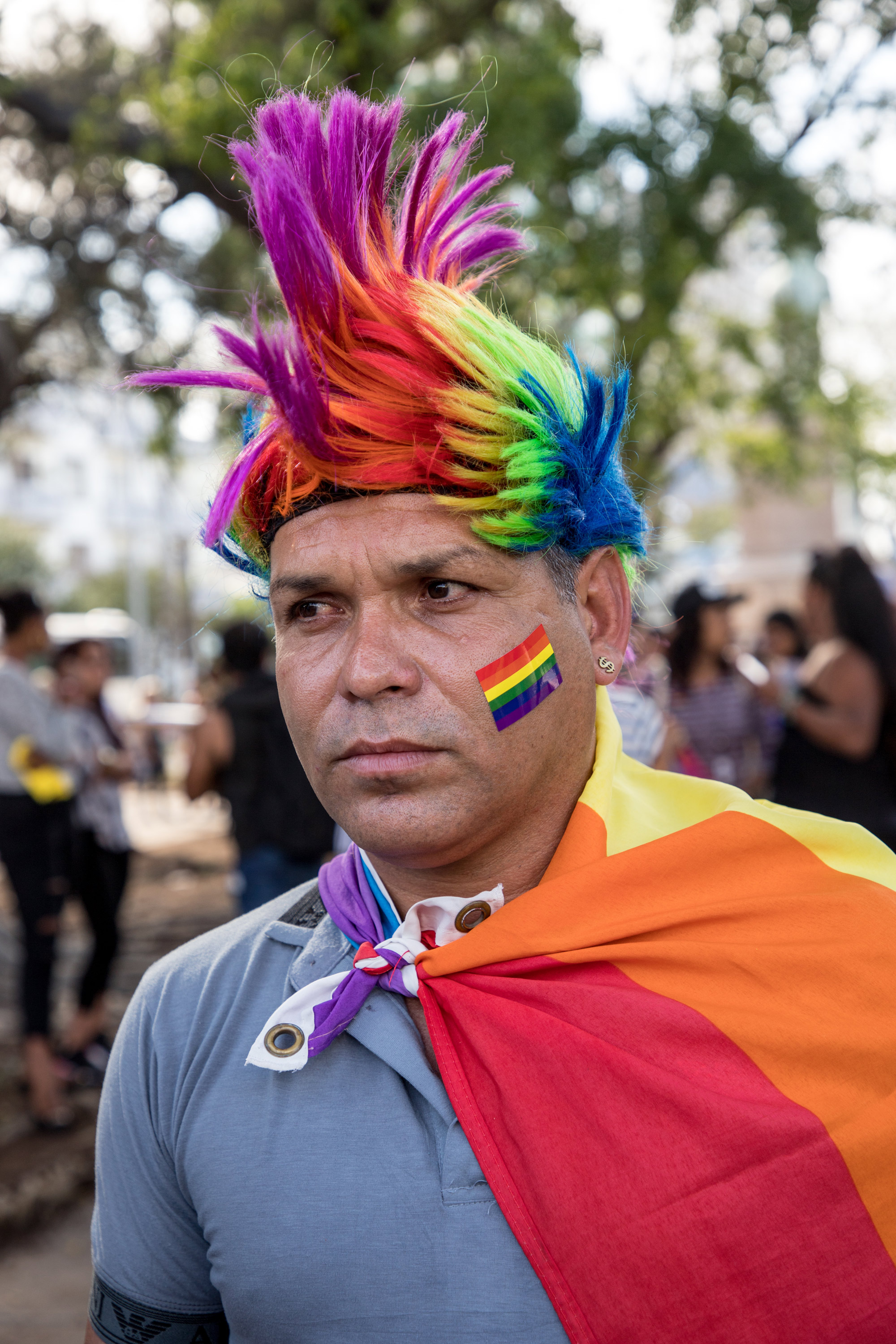Rafael Detiverce Bentei at the International Day against Homophobia and Transphobia in Havana, Cuba (Photo by Riley Robinson/The GroundTruth Project)