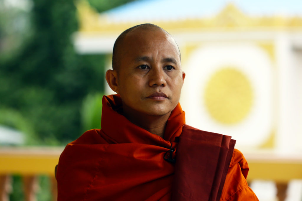Buddhist monk Ashin Wirathu in Mandalay, Myanmar on June 21, 2013. (Htoo Tay Zar/GroundTruth)