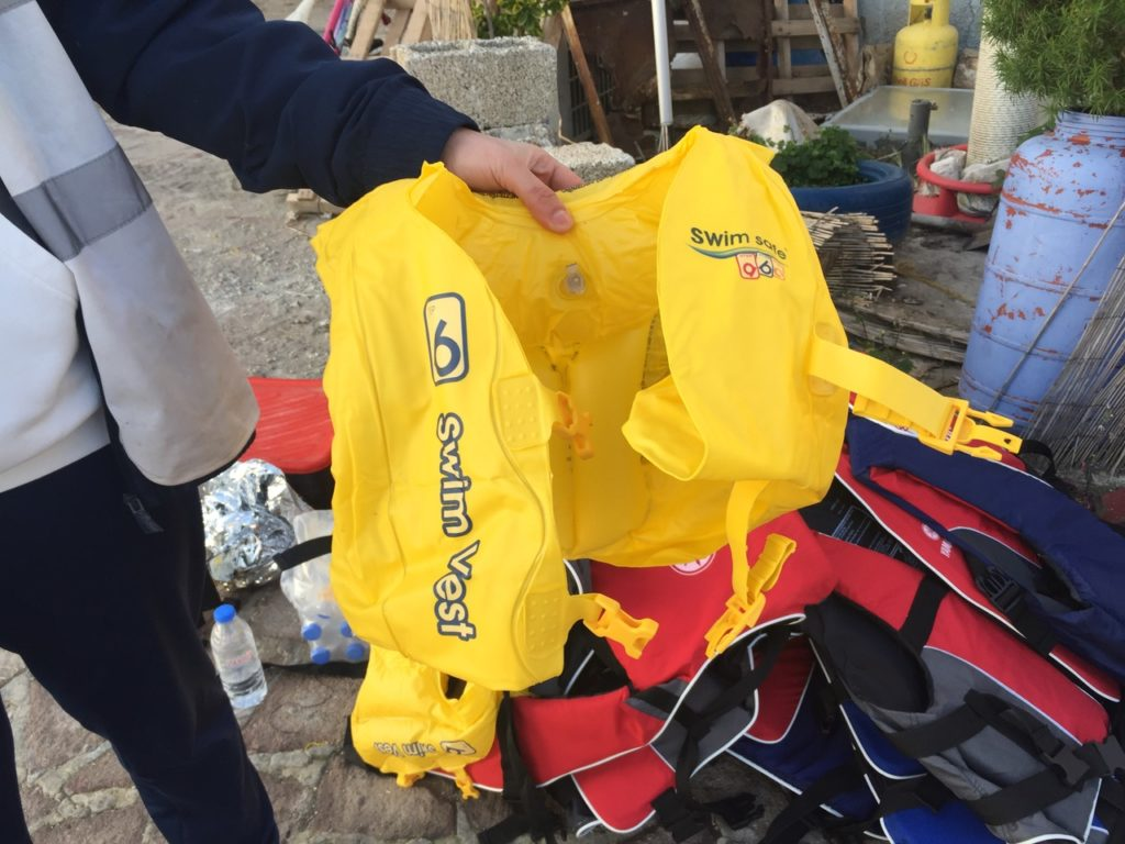 A child's swim vest. (Photo by Holly Young/GroundTruth)