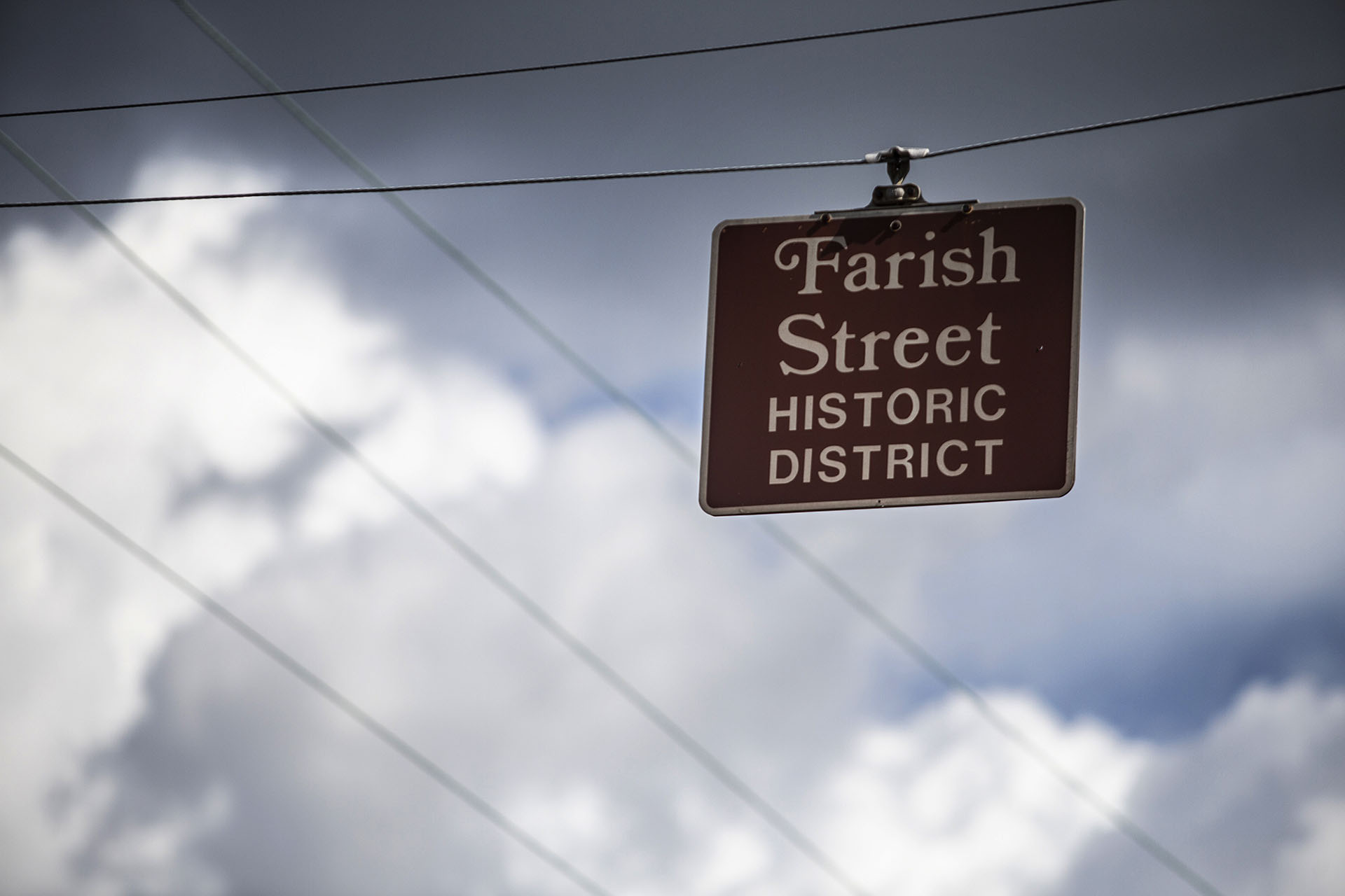 A Farish Street Historic District sign is seen on North Mill Street in Jackson Friday, June 29, 2018. (Photo by Eric J. Shelton/GroundTruth)