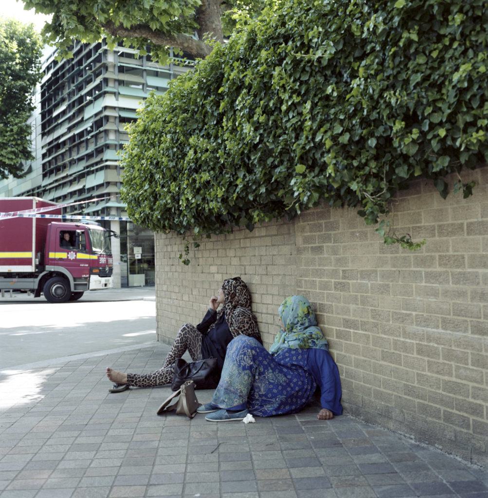 Two local residents watched in disbelief at the scene of the fire.