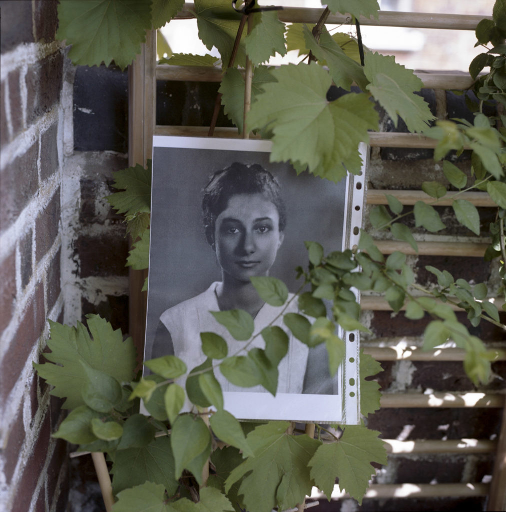 A portrait of the young Vasiliki on the porch of her flat in Bramley House, was wrapped in the grape vines that she transplanted from her birth place in Greece.