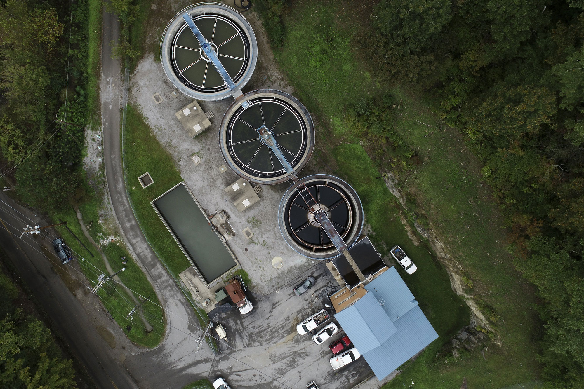 The Martin County Water District water treatment plant on Turkey Creek Road in Inez, Tuesday, Oct. 2, 2018. Photo by Alex Slitz / aslitz@herald-leader.com