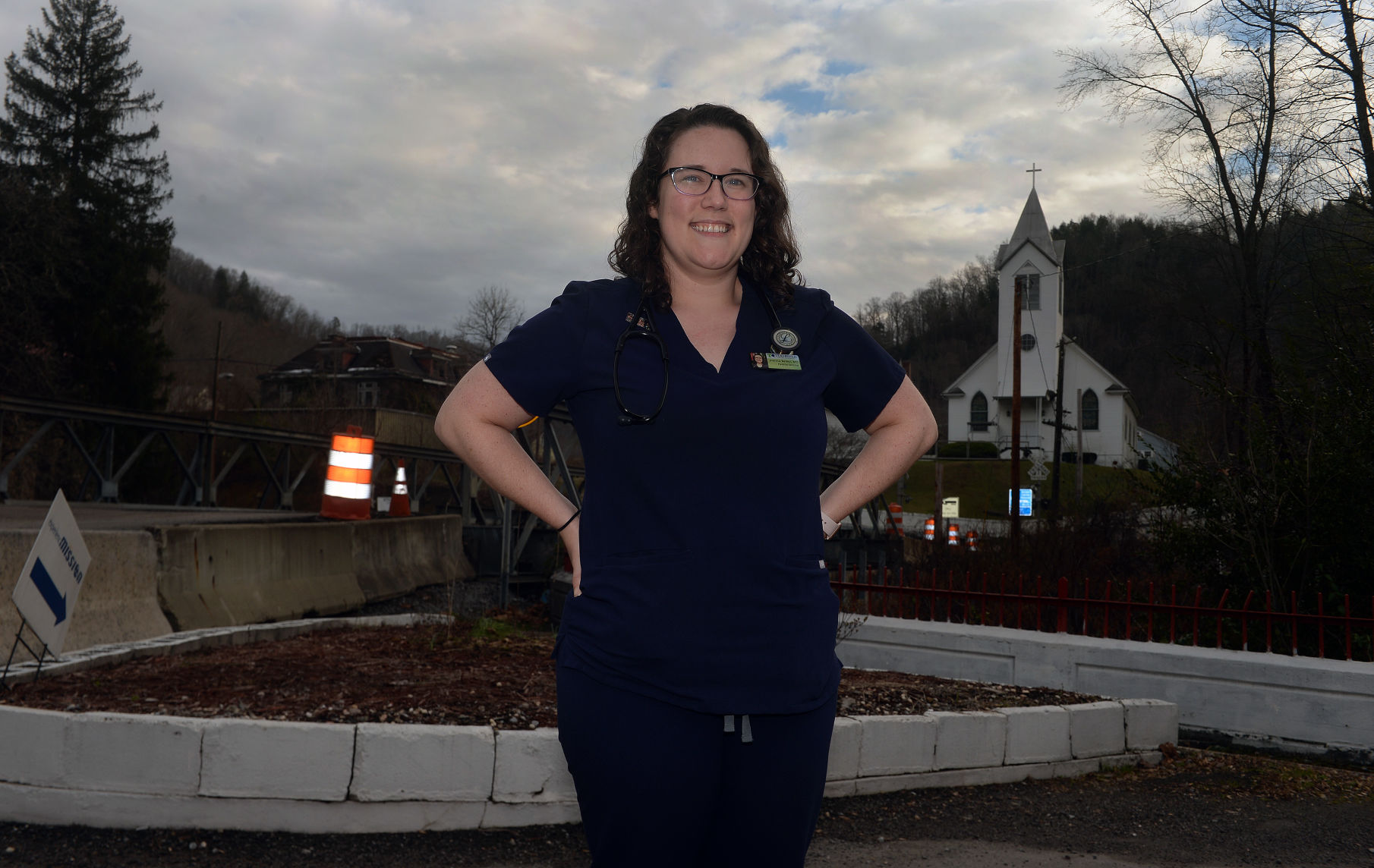 Dr. Joanna Bailey stands outside of the Tug River Health Association in Gary. Bailey is especially concerned about the effect potentially unclean water can have on her patients throughout Southern West Virginia.