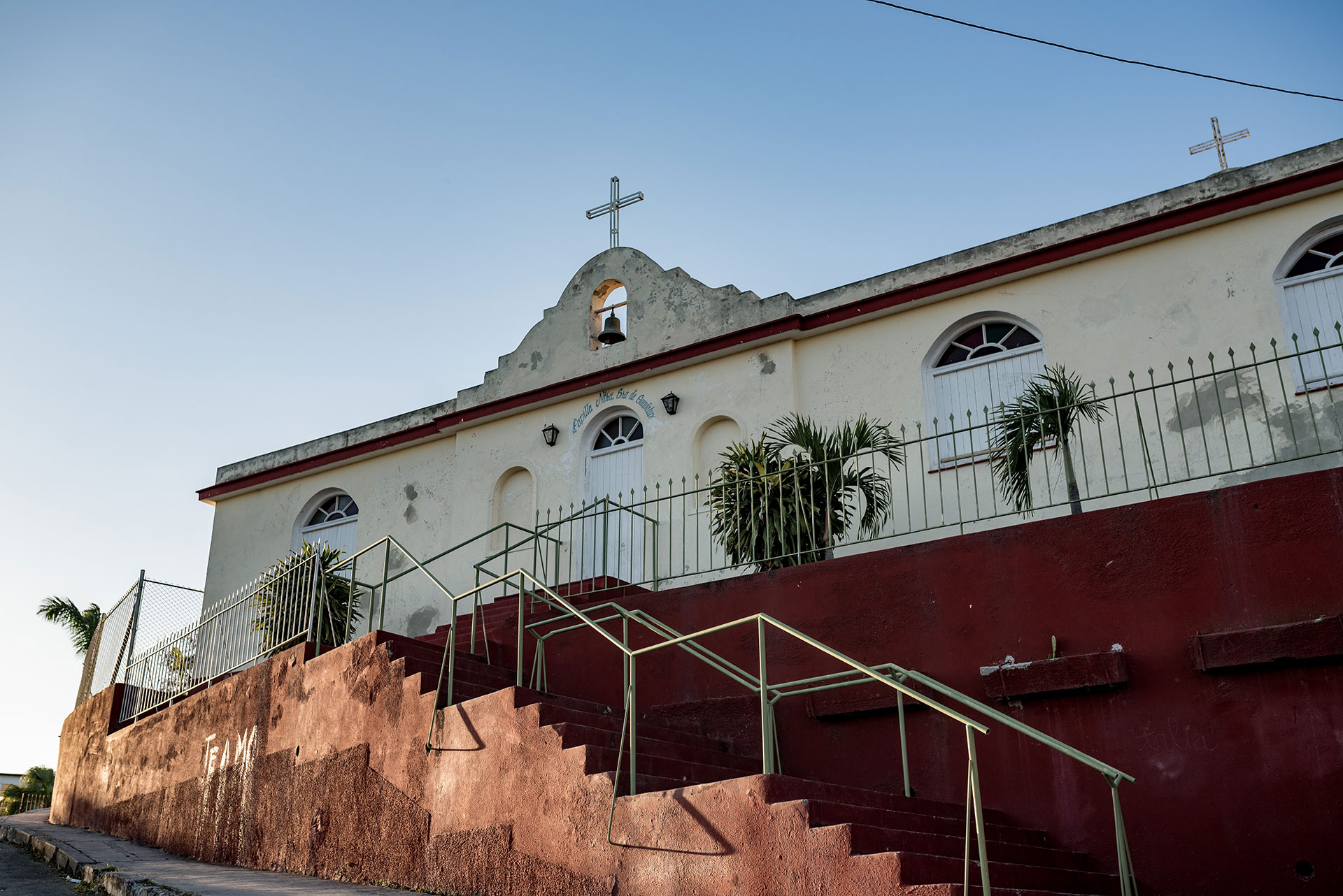 The church Hermanas del Amor de Dios is pictured March 7, 2019, in the Regla neighborhood of Havana, Cuba. The church received aid from Caritas Cubana after a tornado recently devastated the community. (Photo by Daniel Hentz)