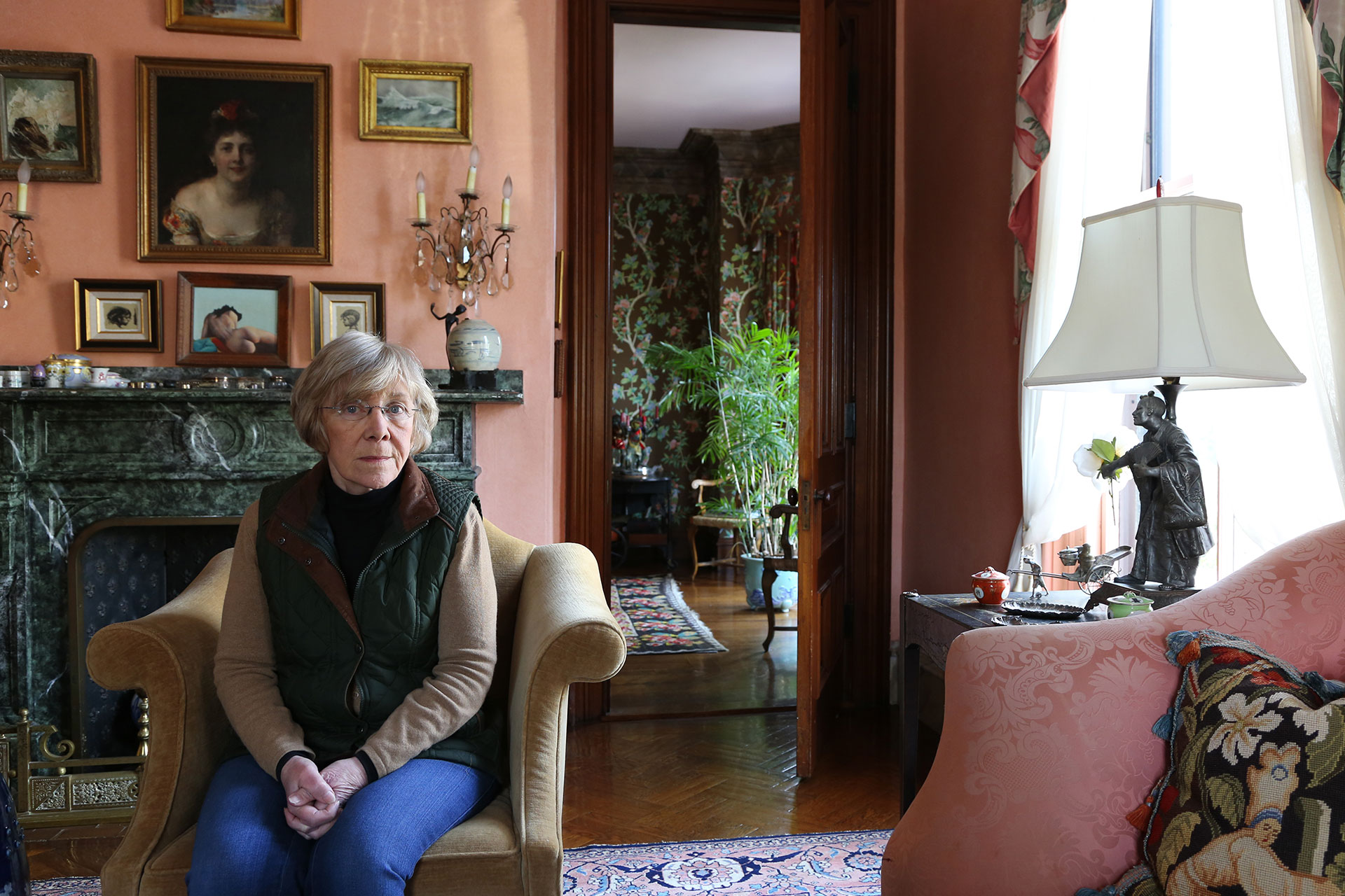 Community organizer Consuelo Isaacson poses for a portrait Feb. 1, 2019, in Cambridge, Massachusetts. Isaacson was born in Cuba and immigrated to the U.S. as a teenager in 1960, shortly after the Cuban Revolution. (Photo by: Photo by Joshua Qualls/GroundTruth)