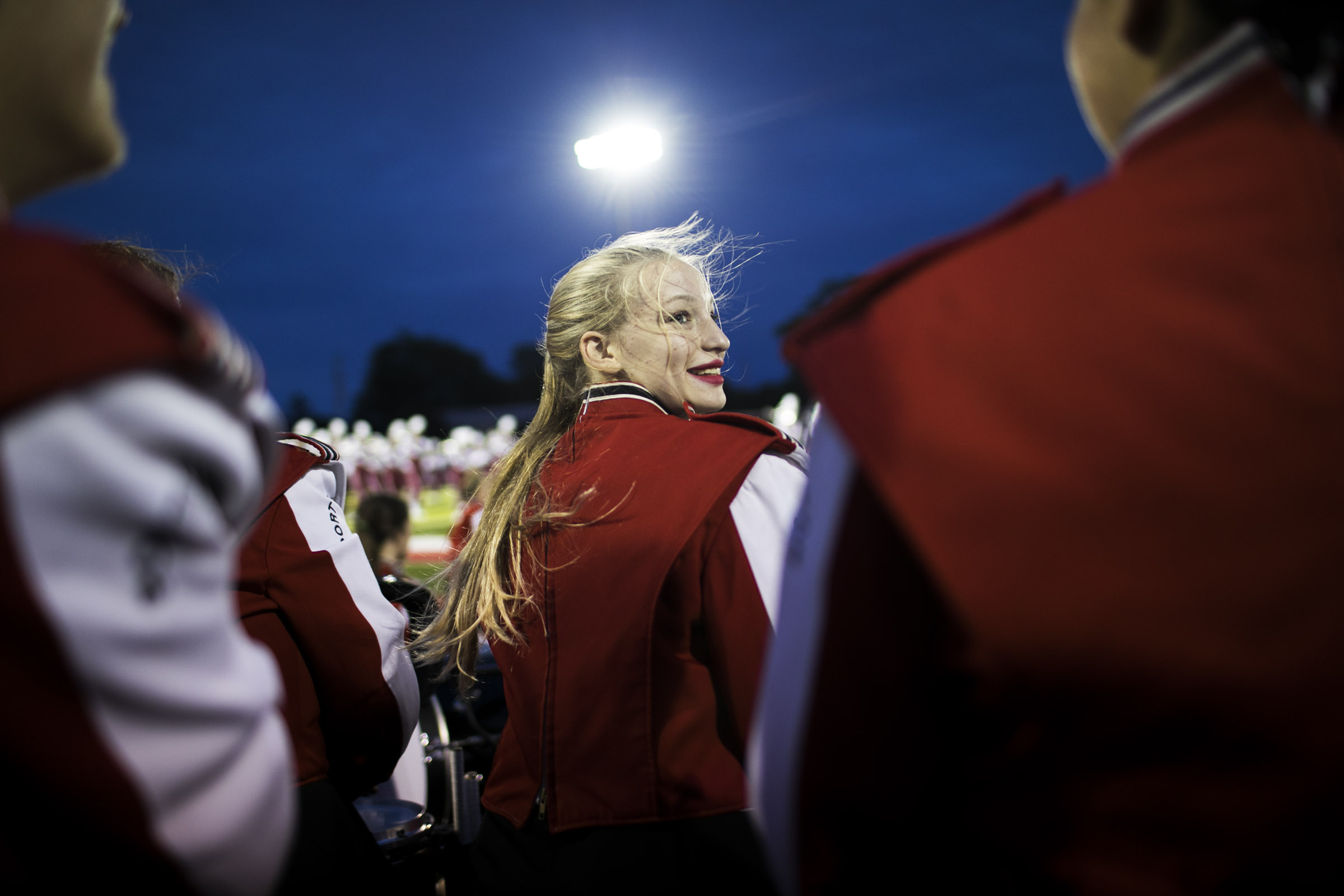 Sonya Casto joined the Port Clinton, OH Marching Band. (Photo by Maddie McGarvey)