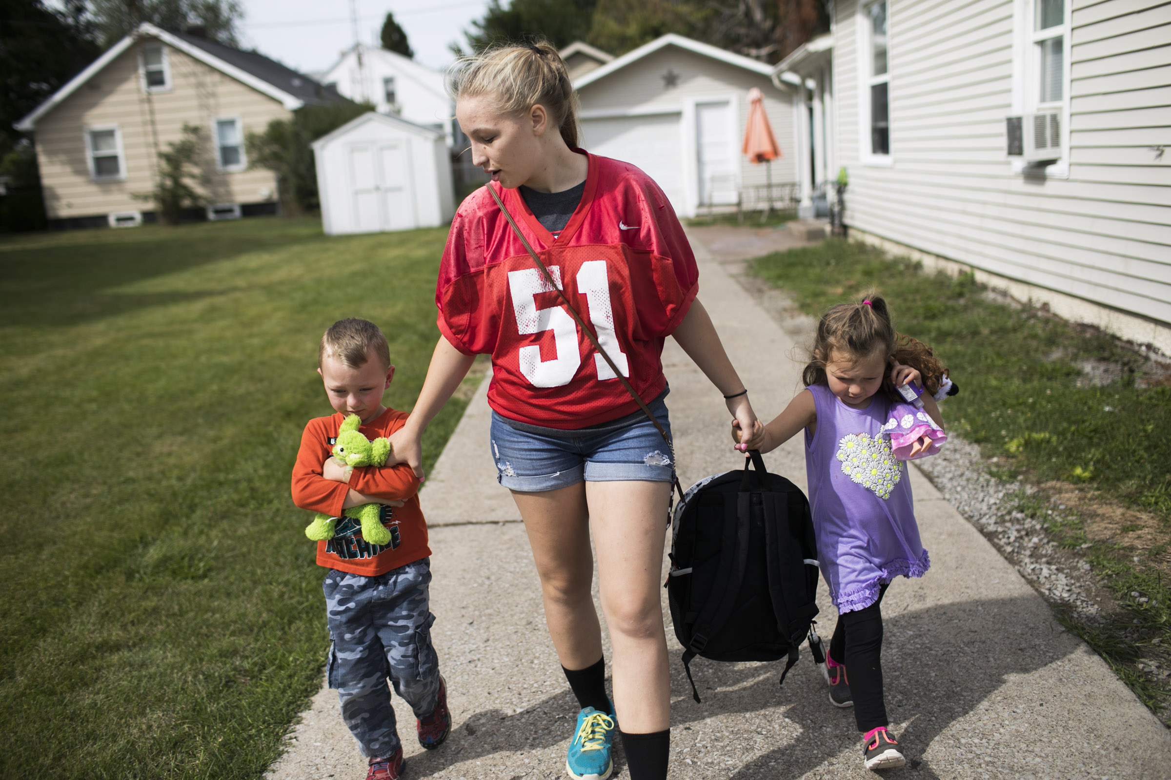 Sonya Casto spent some time with her cousins in Port Clinton, OH. (Photo by Maddie McGarvey)